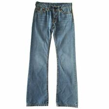 WOMEN'S EVISU WASHED BLUE DENIM JEANS BOOTCUT TROUSERS W27 30 L32 RRP £115