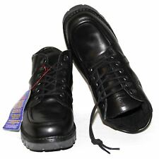 Men's Genuine Red Goose Black Leather Boots Lace up Smart Shoes UK 7-10 RRP £110