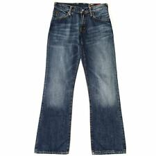 WOMEN'S EVISU EMBROIDED WASHED BLUE DENIM JEANS BOOTCUT W28 29 L30 RRP £149
