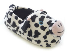 SlumberzzZ Girls 3D Cow Face And Ears Novelty Fluffy Slip On Slippers