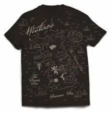 New Official GAME OF THRONES - WESTEROS MAP T-Shirt