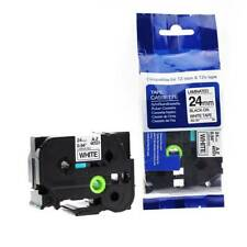 Compatible Brother TZE-251 P-Touch 24mm x 8m Black On White Label Tape VAT inc