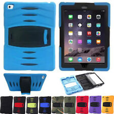 For Apple iPad Models Shockproof Hybrid Heavy Duty Rubber Hard Stand Case Cover