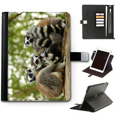 HAIRYWORM ANIMAL LEMUR 360 SWIVEL DELUXE LEATHER APPLE IPAD TABLET CASE, COVER
