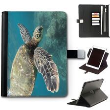 HAIRYWORM ANIMAL SEA TURTLE 360 SWIVEL DELUXE LEATHER APPLE IPAD TABLET CASE