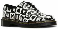Dr Martens Mens 1461 Egret Playing Cards Funky Leather Shoes
