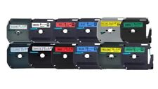 Compatible Brother MK P-Touch 9mm & 12mm Label Tapes - 6 Colours -VAT included