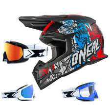 Oneal 5 Series Enduro CASCO CROSS Vándalo AZUL BLANCO ROJO two-x RACE MX Gafas
