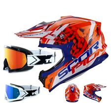 SCORPION vx-15 EVO AIR MX CASCO CROSS kistune incl. two-x RACE Gafas de Cross