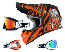Oneal 3series CASCO Mercury NARANJA NEGRO CON two-x Carrera Gafas CROSS Motocr