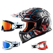 LS2 CASCO CROSS MX437 RÁPIDO Beast negro blanco Casco enduro two-x Carrera Gafas