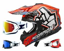 SCORPION vx-15 EVO MX CASCO CROSS ROK BAGOROS incl. two-x RACE Gafas de Cross
