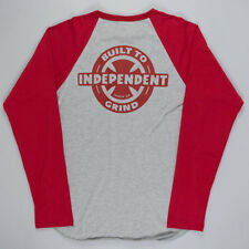 Independent Built To Grind Raglan T-Shirt Grey skateboard
