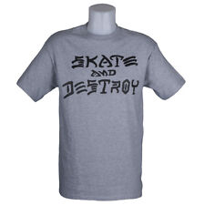 Thrasher Magazine Skate and Destroy T-Shirt Grey skateboard