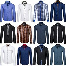 Bolf camisa manga larga Casual Camiseta Motivo Slim Fit Informal MIX 2b 2 Wear