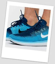 Nike Free Run Flyknit Mens Shoes Trainers Running Shoes Sneakers Sport Blue