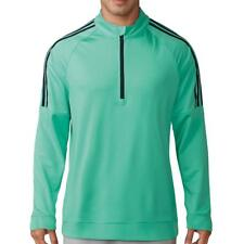 Adidas Golf 2018 3 Stripes 1/4 Zip Camiseta ( Hi Res verde)