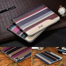 Luxury Stripe Leather Smart Stand Case for ipad 5 6 air Pro mini 2 3 4 2017 2018