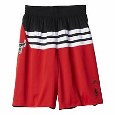 ADIDAS NBA CHICAGO BULLS [ ERL S/M/XL/XXL ] BREVE AH5048 Rosso NUOVO ORIGINALE