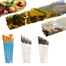 12Pcs Paint Brush Set for Oil Watercolor Acrylic Artist Painting Art Craft Gifts