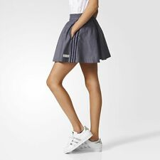 adidas Originals Women's Pleated Chambray Fashion Skirt With Pockets Summer