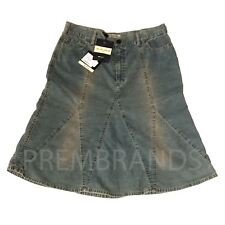 NEW WOMEN'S SEE BY CHLOE CORDED BLUE SKIRT PENCIL KNEE LENGTH W30 32 L24 RRP£156