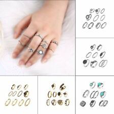 New Knuckle Ring Sets Stacking Bands Midi Mid Above Joint Rings Punk Finger Tip