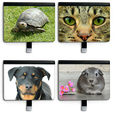 DOG CAT LEATHER TABLET CASE, 360 SWIVEL FLIP COVER FOR APPLE IPAD 5 6 PRO 11....