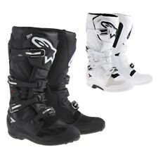 ALPINESTARS TECH STIVALI MOTOCROSS 7 MX ENDURO stivali nero bianco