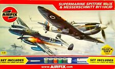 Airfix SUPERMARINE SPITFIRE Mk.IX and MESSERSCHMITT Bf110 Dogfight Double