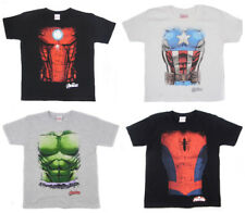 Avengers Camiseta TORSO Top Hulk Iron Man Captain America Spider-Man Infinity