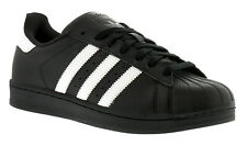 New Mens/Gents Black Adidas Originals Superstar Foundation Trainers. UK Size