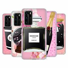 HEAD CASE DESIGNS PINK AND FLORAL SOFT GEL CASE FOR HUAWEI PHONES