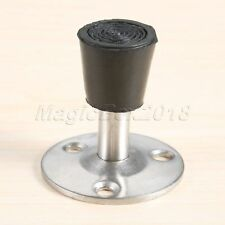 Stainless Steel Rubber Wall Mounted Cylinder Door Stop Stopper Doorstop Stylish