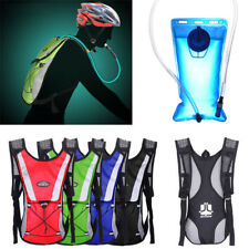 Water Bladder Bag Backpack+Hydration Packs Hiking Camping 2L Outdoor Cycling