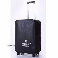 Luggage Trunk Cover Protector Travel Dust Proof Suitcase Bag Black 20''-30''