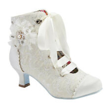 Joe Browns Couture Hitched Bridal Wedding Ivory Lace Boots UK3-9