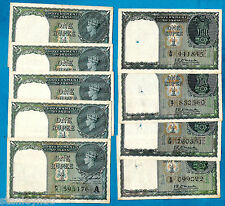 RARE INDIA RUPEE BANKNOTES KRK Menon CE JONES Consecutive etc - Choose Your Note