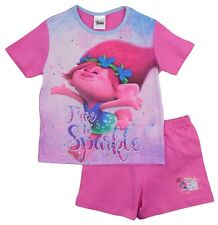 fille adolescente TROLLS Pyjama short t-shirt Set 4-5 Years to 9-10 ans