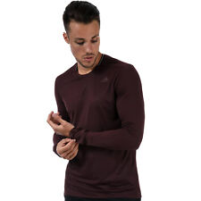Mens adidas Supernova Long Sleeve T-Shirt In Dark Burgundy From Get The Label