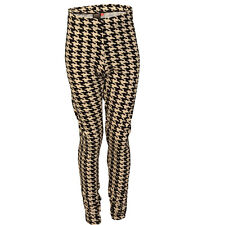 Ladies Only Pricilla Dogtooth Leggings In Black/Cream From Get The Label