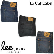 Mens Cut Label Lee Ex Store Jeans Skinny Stretch Iconic Zip Fly Cotton UK 26-48