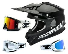 SCORPION VX-15 EVO MX Casco da cross Nero incl. TWO-X RACE OCCHIALI DA CROSS