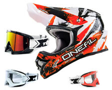 ONEAL 3Series SHOCK Casco da cross arancione incl. TWO-X RACE OCCHIALI MX ENDURO