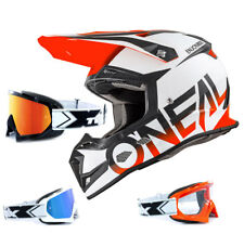 Oneal 5Series Casco da cross blocco arancione neon TWO-X RACE MX OCCHIALI