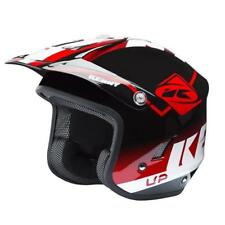 KENNY graphic trial Up helm 2018 - Rot Schwarz weiss motocross enduro mx cross