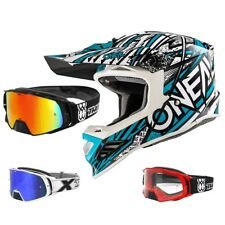 ONEAL 8Series synthy Casco da cross motocross blu menta TWO-X ROCKET OCCHIALI