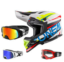 ONEAL 8Series AGGRESSOR CASCO DA CROSS MOTOCROSS BIANCO BLU TWO-X ROCKET