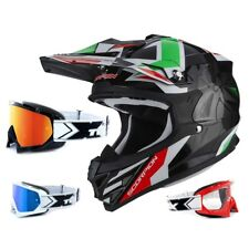 SCORPION VX-15 EVO AIR CASCO DA CROSS ROBOT NERO VERDE TWO-X RACE MX OCCHIALI