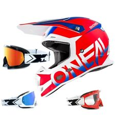Oneal 5Series Casco da cross blocco BLU TWO-X RACE MX OCCHIALI ENDURO